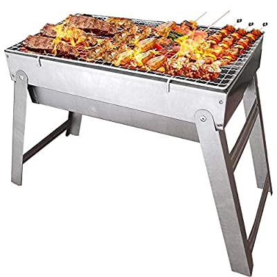 TOORGGOO Barbecue Grill,Portable Folded Charcoal Barbecue, Cold-Rolled Plate Material BBQ Grill for 2-5 Barbecue Lovers Outdoor Picnic Patio Backyard Travel Park Beach Wild Cooking.
