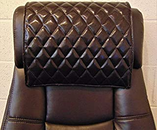 luvfabrics 14 x 30 inch Quilted Diamond Stitched Dark Brown Houston Sofa, Loveseat, Chaise, Theater Seat, RV Cover, Chair Caps, Headrest Pad, Recliner Head Cover, Protector with Suede Backing