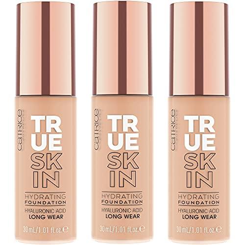 Catrice True Skin Hydrating Foundation, Make Up, Nr. 020 Warm Beige, nude, für Mischhaut, pflegend, langanhaltend, mattierend, natürlich, matt, vegan, ohne Alkohol,...