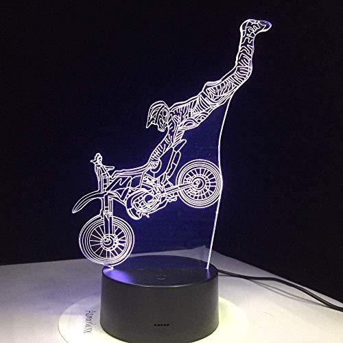 Hologram-lamp tafellampen met ABS en acrylvoet plat en USB-oplader geschikt voor de decoratie van de kinderkamer Interruttore del telecomando Stile 399