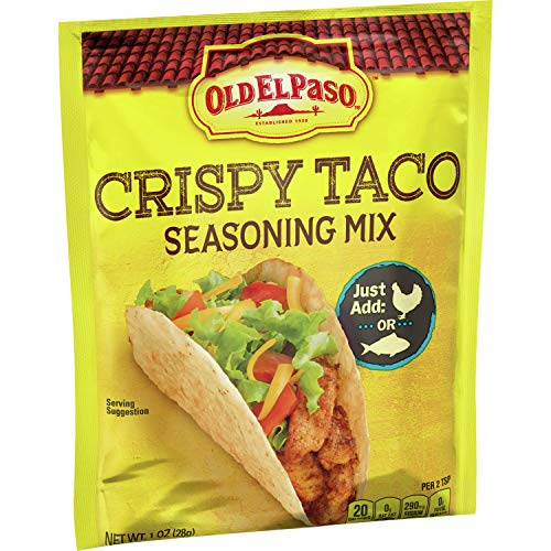 Old El Paso Fish & Chicken Crispy Taco Seasoning Mix Original, 1 oz (Pack of 32)