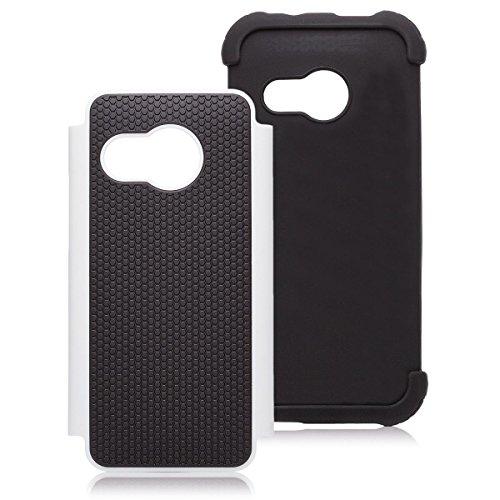 HTC One mini 2 - M8 Mini | Caso al Air libre iCues blanco | Caso duro al Air libre grueso a prueba de golpes militares Lifeproof hombres, niños piel protectora de protección [protector de pantalla, incluyendo] Cubierta Cubierta Funda Carcasa Bolsa Cover Case