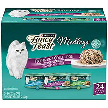 Purina Fancy Feast Gravy Wet Cat Food Variety Pack Medleys Florentine Collection - 3 oz Cans   Pack of 24