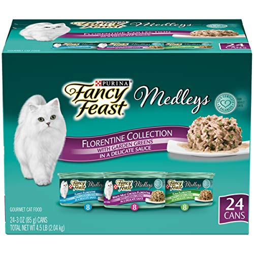 Purina Fancy Feast Gravy Wet Cat Food Variety Pack, Medleys Florentine Collection - (24) 3 oz. Cans