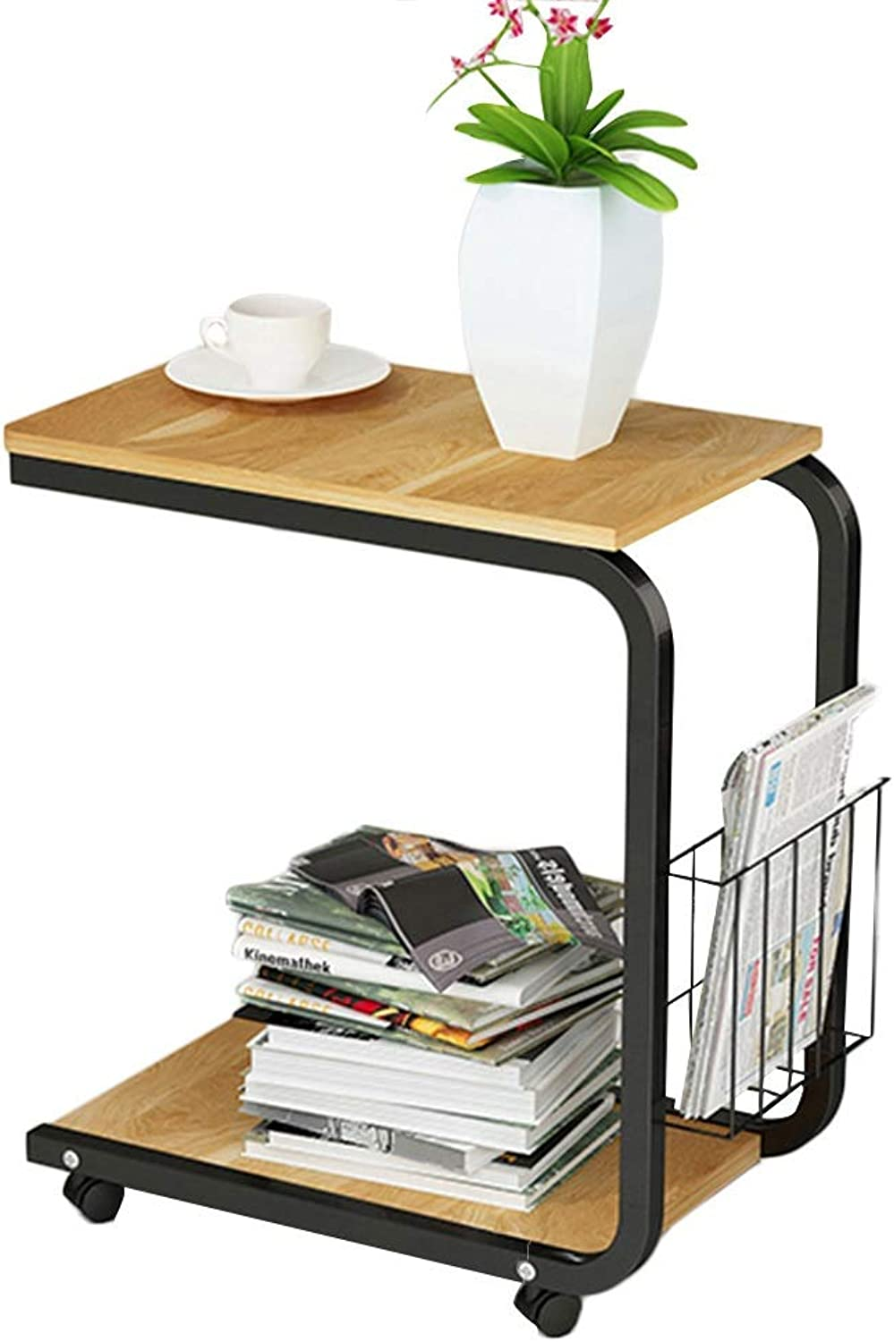 PENGFEI Laptop Stand for Desk Simple and Versatile Small Coffee Table Dining Tables Mobile Shelf Wood-Based Panels, 4 colors (color   A, Size   51X30X56CM)