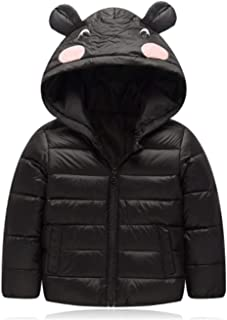 [サ二ー] ダウンジャケット キッズ 中綿コート 軽量 子供服 女の子 フード付き アウター 男の子 赤ちゃん フード付き ジッパー 着回し お出掛け 暖かい 秋冬 ユニセックス かわいい 耳付き
