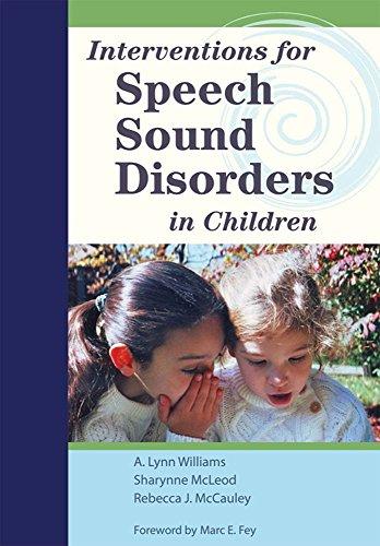 Interventions for Speech Sound Disorders in Children...