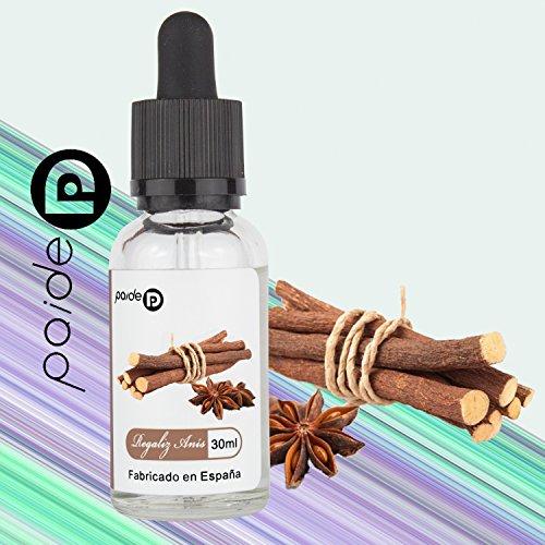 30ML Paide Premium E-Liquid - Sin nicotina - Bote de cristal con pipeta - Líquido para cigarrillo electrónico - 50VG 50PG (Regaliz anis)