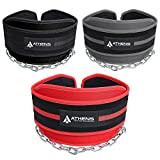 Dipping Belt Body Building Weight Lifting Dips and Pull ups with Long 34 Inches Chain -Best Weight Belt with Chain- Ideal Pull Up Dip Belt - Chin Up Belt - Premier Dipping Belt for Men & Women (Black)