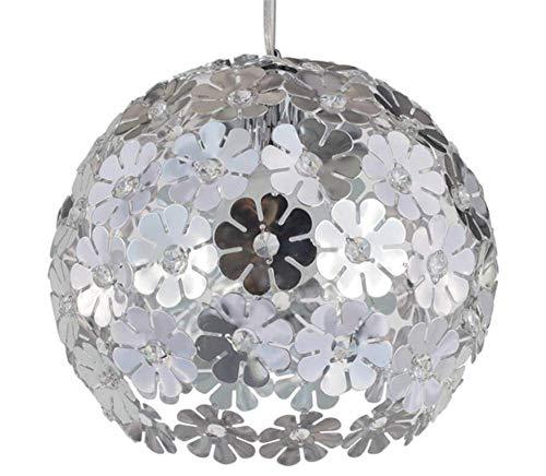 Cristal Chandelier Metal Plum Lampshade Light Light Light Lights para comedores, restaurantes, galerías (plata)