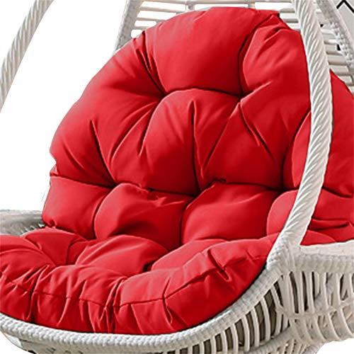 favourall Hamaca colgante de huevo para silla, cojines de columpio para colgar canasta de asiento, cojín grueso para colgar, silla de patio, jardín, columpio de ratán, silla de huevo, colchoneta