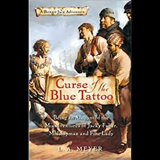 Curse of the Blue Tattoo audiobook cover art