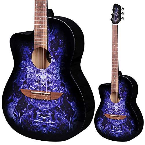 Lindo - Chitarra acustica per mancini 933C Alien Purple & Gigbag (serie apprendista)