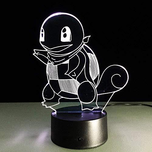 LSDAMN Lámpara de dibujos animados Pokemon acrílico niños bebé niños 3D luz de noche cumpleaños Navidad juguete Eevee