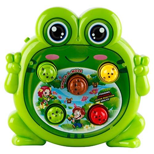 STOBOK Klopf Hämmerspielzeug Frosch Form Kinder Hammer Spiel Klopfbank Schlagspiel Elektronisches Spielzeug Ohne Batterie (Zufällige Farbe)