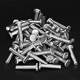 Accesorios de herramientas de reparación Remache sólido M4 Remache sólido GB867 100pcs / set Remache sólido de cabeza plana para el ensamblaje de electrodomésticos de oficina M4 * 20 / M4 *(M4*25)