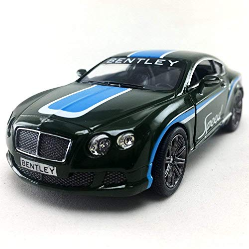 Kinsmart 2012 Bentley Continental GT Speed Green Color 1:38 DieCast,Model,Toy,Car,Collectible, Collection, Hobby