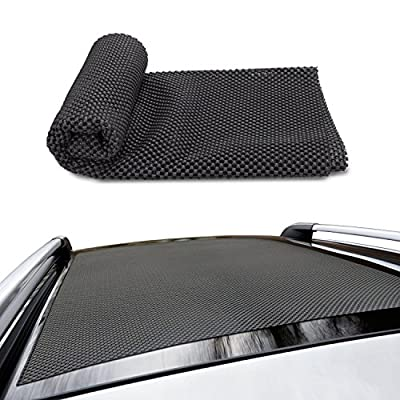 ROOF CARGO BAG PROTECTIVE MAT, Roof Rack Pad for Car Roof Storage Bags Top Universal Roof Rack Pad for Rooftop Cargo Bag TOP UNIVERSAL ROOF RACK PAD for PROTECTION from Car Roof Racks (59'' x 39'')