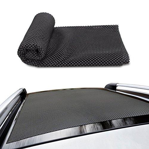 Antirutschmatte für Auto Schutzmatte, Siivton Zuschneidbar Kofferraummatte Schmutzfangmatte100 x 92 cm Ideal für Reisen und Gepäcktransport Schwarz (M)