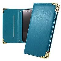 WHITENUTS OPPO A5 / R15 Neo / A3s ケース 手帳型 ひだりきき ベルトなし グレイスファル ブルー オーダー手帳 L