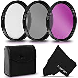 58MM Lens Filter Accessories Kit with Protective Case for Canon EOS Rebel T100 T8i T7i T7 T6i T6S T5 T5i T4i T3 T3i T2i T1i SL2 SL3 EOS M EOS M2 EOS 70D 60D 90D 7D/7D Mark II 4000D 2000D Cameras