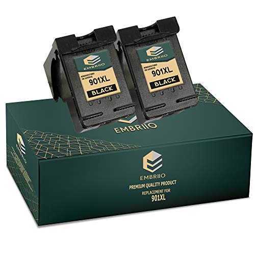 EMBRIIO 2X 901 901XL Negro Cartuchos de Tinta Reemplazo para HP OfficeJet 4500 G510a G510g G510n J4500 J4524 J4535 J4580 J4660 J4680 J4680c