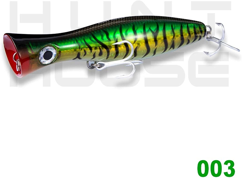 Generic Hunthouse gt Popper Tuna Fishing Lure Saltwater sea Fishing Hard Bait topwater 200 160 120mm 150 83 43g 4 colors mustad Hooks 003 200mm 150g