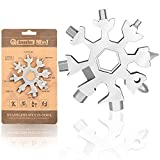 Saker 18-in-1 Snowflake Multi-Tool, Amenitee 18-in-1 Snowflakes Multi-Tool – Easy N Genius - Saker 18-in-1 Stainless Steel Snowflakes Multi-Tool (Standard, Stainless Steel)