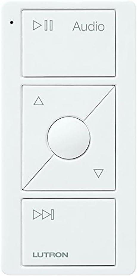 Lutron Audio Pico Remote for control of Sonos speakers, Sonos Endorsed Integration   PJ2-3BRL-GWH-A02   White