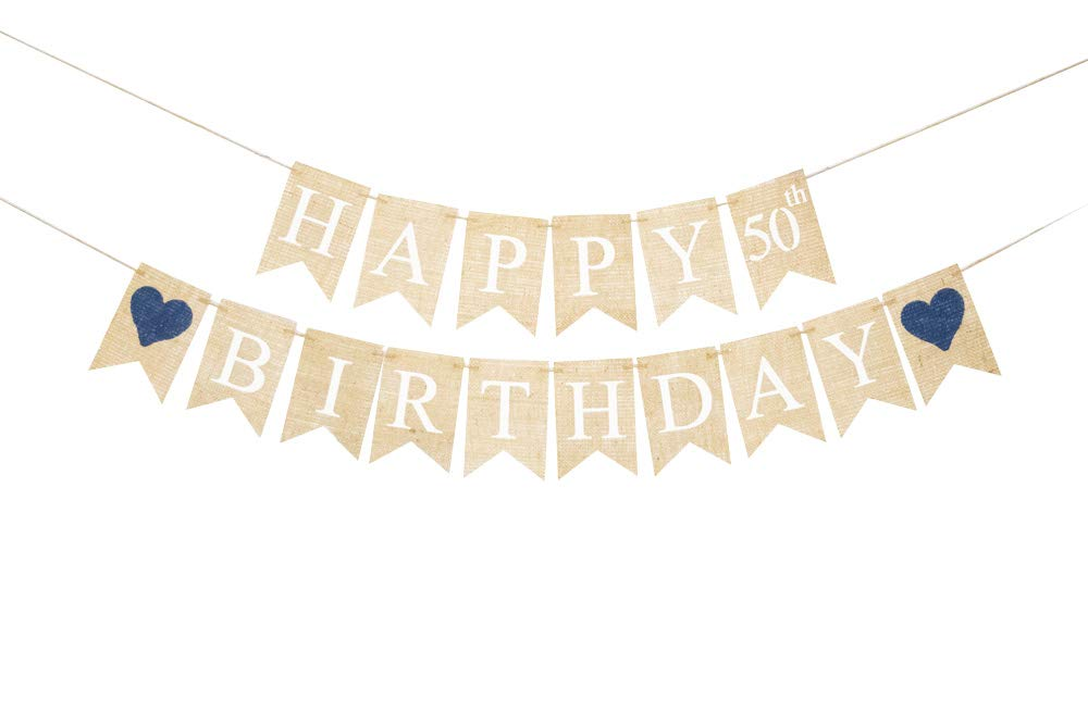 Happy 50th Regular dealer Birthday Decoration Fort Worth Mall Party Banner