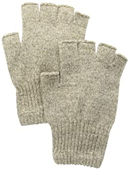 Fox River Men s Mid Weight Fingerless Ragg Glove Brown Tweed Medium