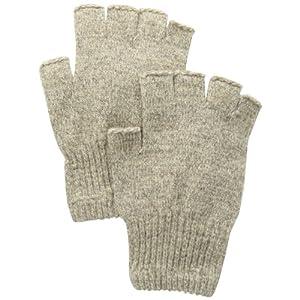Fox River Men's Mid Weight Fingerless Ragg Glove, Brown Tweed, Medium