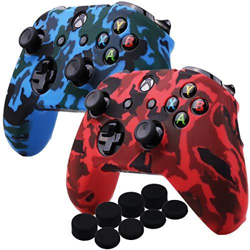 YoRHa Agua Transferir Impresión Camuflaje Silicona Cubrir la piel Caso para Xbox One X / One S controlador [Después del...