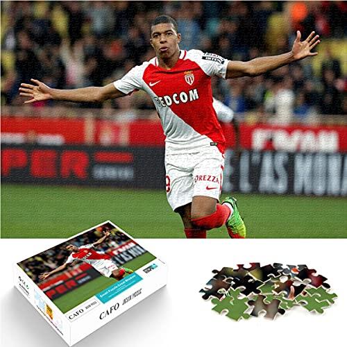 Puzzle 1000 Piezas Kylian Mbappe Jugador de fútbol Profesional francés n. ° 7 Rompecabezas de Papel 26x38cm Tiempo Libre Juego Familiar