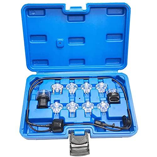 Kit de Prueba de luz Noid de 11 Piezas, Herramienta de Prueba de inyector de Combustible, Juego de luz Noid, inyección electrónica de Combustible y Juego de Prueba de luz de Prueba Noid Lite de señal