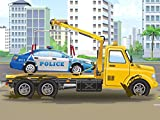 The Police Car and Yellow Tow Truck