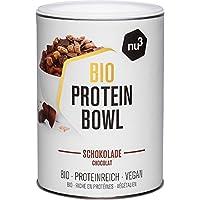 nu3 Protein Bowl orgánico sabor chocolate - 300g de gachas de avena sin gluten - Desayuno nutritivo 100% vegano - Sin azúcar o saborizantes artificiales - Alto contenido de fibra y proteína