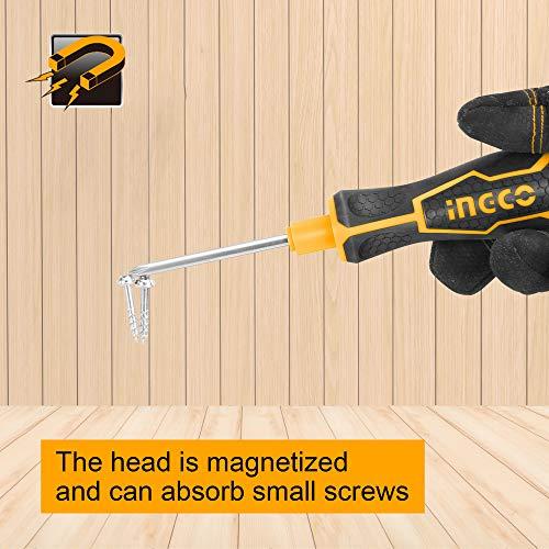 INGCO 9 Pcs Interchangeable Screwdriver Set Replaceable CRV Steel Screwdriver Set AKISD0901