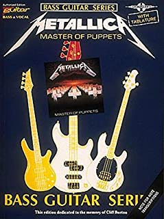 Metallica - Master of Puppets*: For Bass Guitar & Vocal