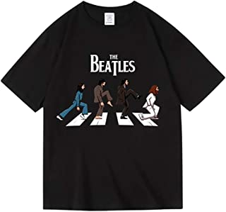 BACΗNIKE beatles ロック アメリカ 流行 欧米風 音楽 Tシャツ メンズ/レディース Tシャツ/夏服 スポーツ プリント 半袖 個性的 無地 ゆったり 通気性 ファッション