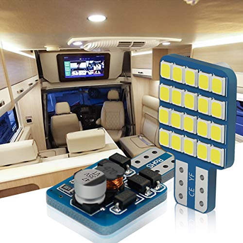 T10 LED lampen, YANF 921 912 194 168 LED Lampen 12-24V Wit 20SMD 2835 LED Vervanging voor Auto Dashboard Nummer Plaat Camper Boot Trunk Trailer Plafond Dome Interieur Lampen