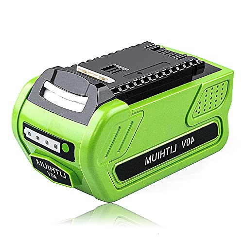 New Replacement 40V 4Ah Li-ion Battery Compatible with GreenWorks 40V Battery GreenWorks G-MAX 29472 29462 Battery Power Tools 20672 21332 25322 29482 Lithium Model BAF721 BAF725 LMF421 LMF414 Battery