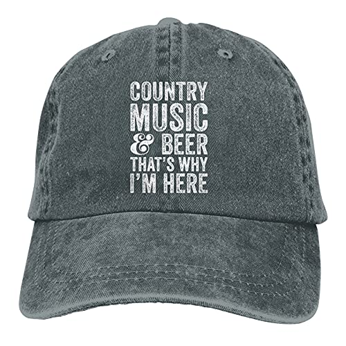 Jopath Country Music & Beer Thats Why Im Here-3 Hats,Unisex Soft Casquette Cap Vintage ajustable Retor Baseball Caps