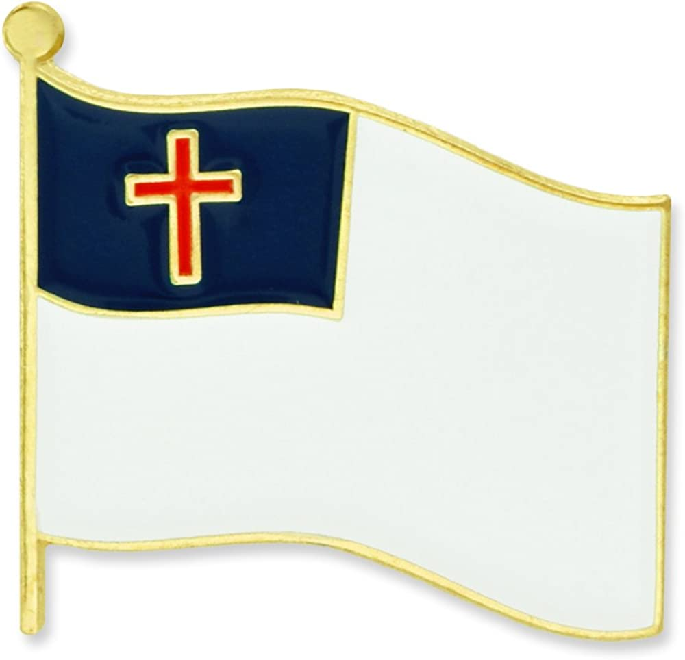 5 popular PinMart Christian Flag Religious Lapel Pin Enamel Max 51% OFF