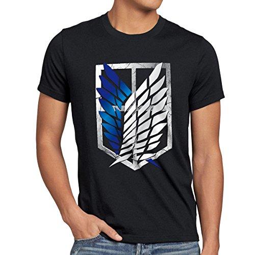 A.N.T. Titan Aufklärungstruppe Wappen AOT Herren T-Shirt on Attack, Größe:M