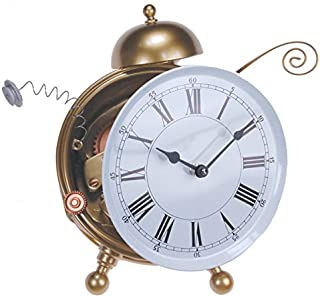 Antartidee Wall Clock Contrattempo Gold Hand Decorated Resin 14x23x10 Made in Italy