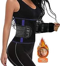 cohaper Women Waist Trimmer Trainer Sport Belt Weight Loss Belly Girdle Body Slim Waist Cincher (Blue, Large)