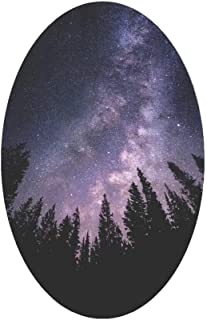"""Feeling Small Milky Way Camping Trees Stars Sticker, Mountain Tough Outdoor Stickers, Waterproof Vinyl (3.75"""" Wide)."""