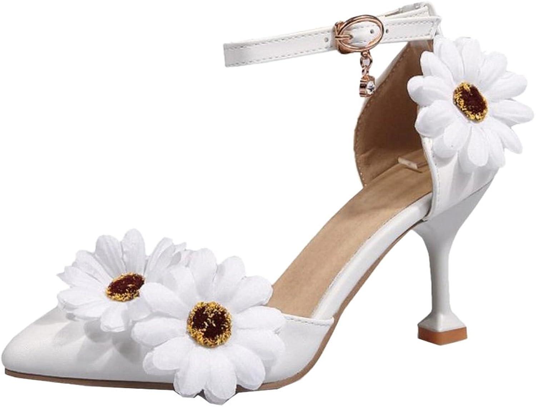 FizaiZifai Women Ankle Strap Sandals Heels
