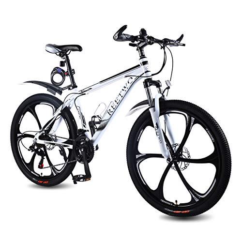 REETWO Vélo Homme Femme VTT 26 Pouces Vélo de Montagne Route Course Aluminium VTT Semi Rigide 21...